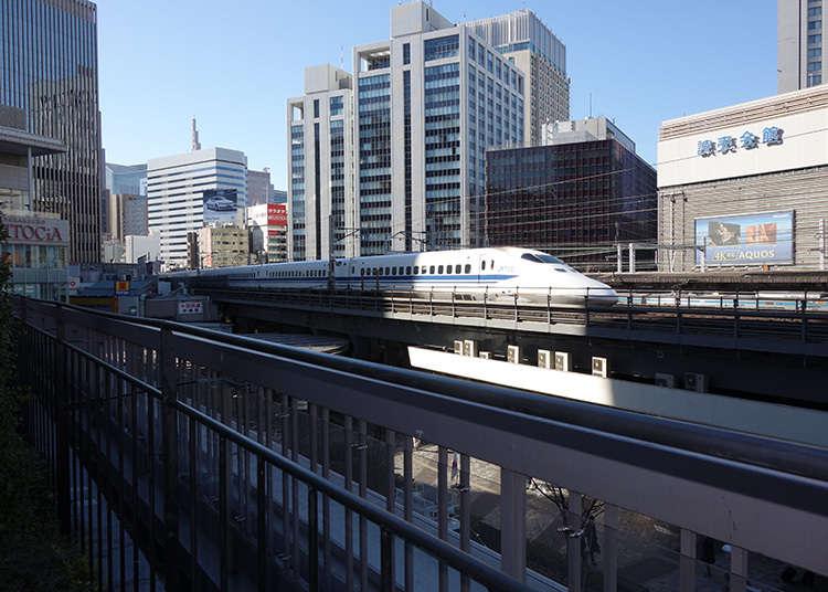 新幹線を撮影
