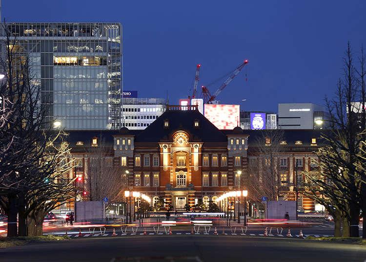 Mendekati karya dan seni bina di Stesen Tokyo