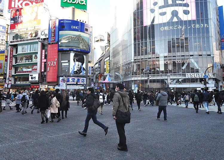 Menyaksikan lalu lintas pejalan kaki terbesar di Jepun!