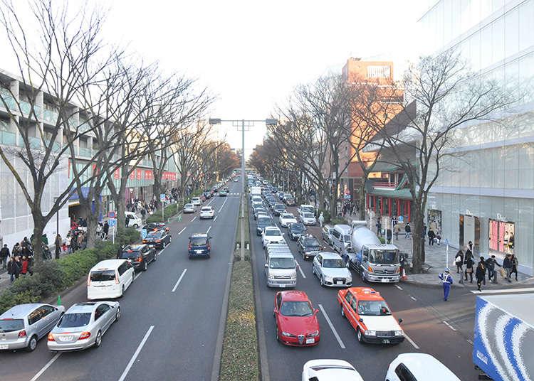 Jika ingin melihat Omotesando dari atas.