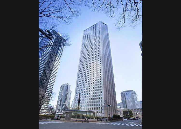 Anda boleh melihat pemandangan indah Tokyo dari bangunan segitiga