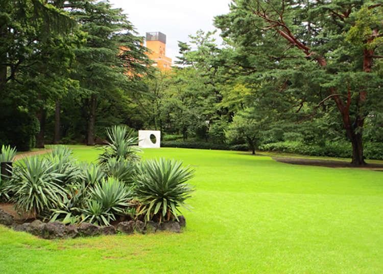 '도쿄 도 정원 미술관'에서 마음과 눈요기를