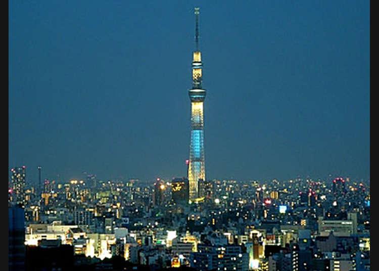 Korakuen: Pemandangan Malam dari Ruang Duduk Menara Observasi