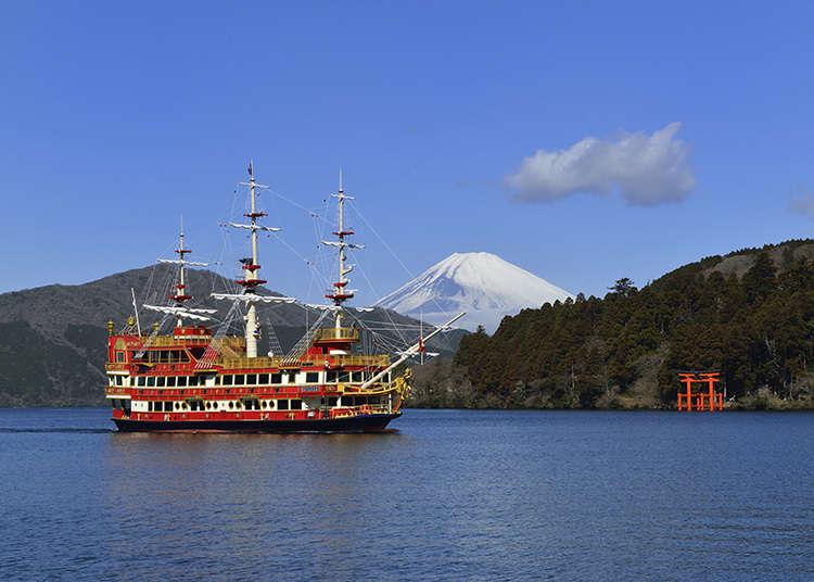 호화로운 해적선을 타고 아시노코 호를 관광하다.