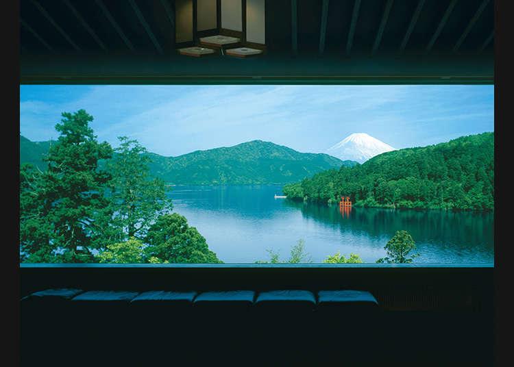 一望蘆之湖美景的美術館