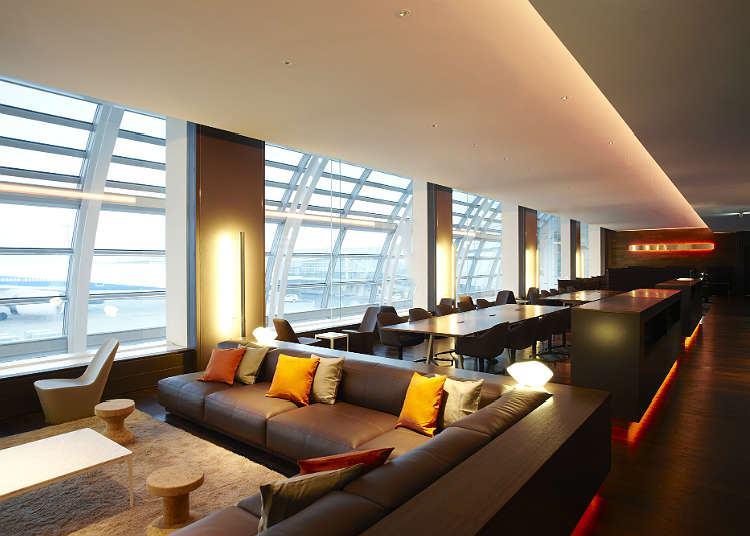 Refresh your body and mind at the airport lounge