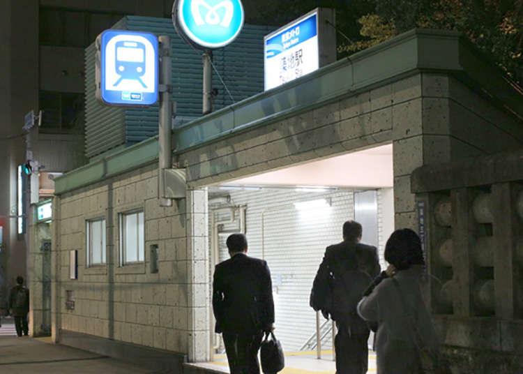"Pulang dengan keretapi dari ""Stesen Tsukiji"" Hibiya Line yang berada di depan mata"