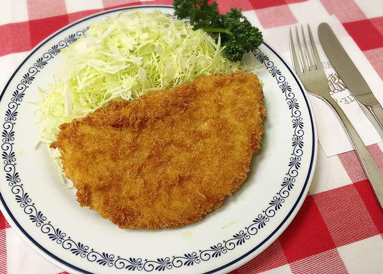 到日式炸肉排和蛋包飯的創始店點餐