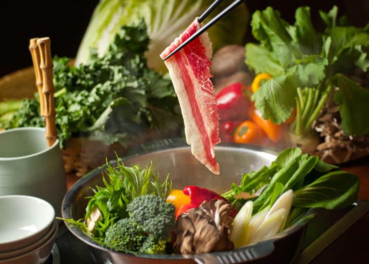 Walaupun bufet, dengan nabe (sajian Jepun yang menggunakan periuk) boleh mendapat sekatan karbohidrat dengan banyak!