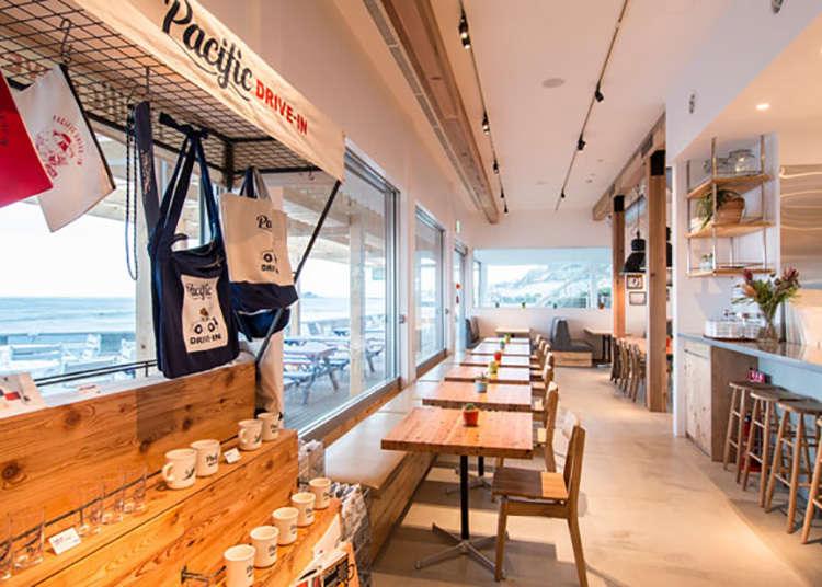 1. 開放的なドライブインカフェ