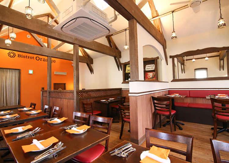 5. 以鐮倉的蔬菜為食材的法式料理「Bistrot Orange」