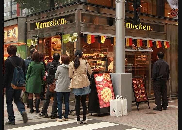 "Wafel asli Belgium di kedai ""Ginza Manneken"""