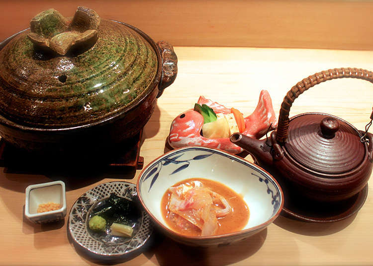 Kien, a Japanese restaurant that utilizes fresh seasonal ingredients