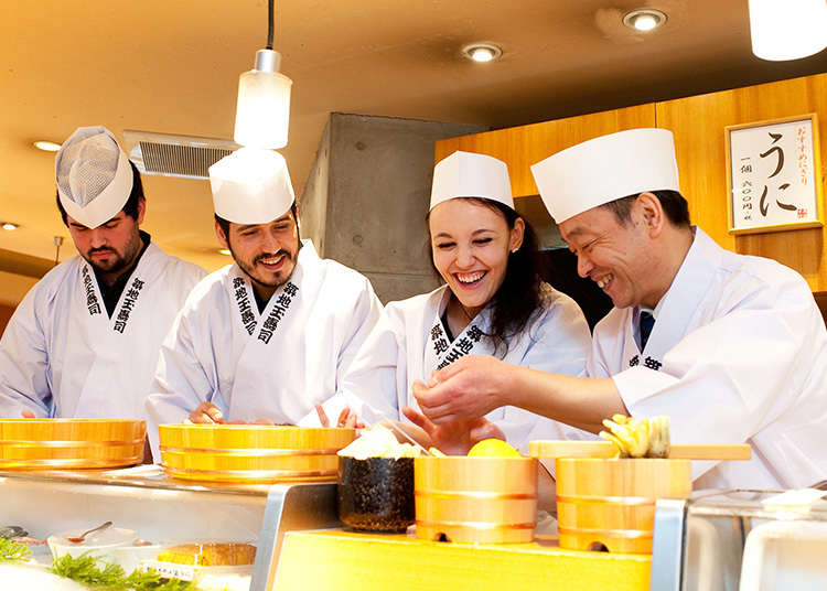 A nigiri workshop is available at Tsukiji Tama Sushi