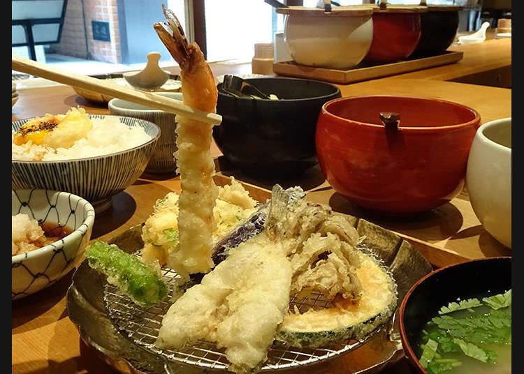 Tempura yang boleh dimakan di Tokyo