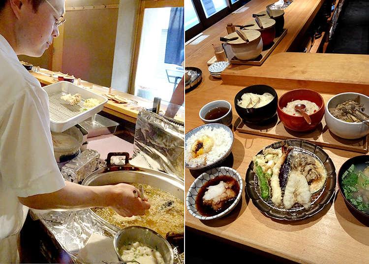 """""""Kaneko Hannosuke"""" ชุดอาหารเท็มปุระที่ได้รับความนิยมอย่างสูง"""