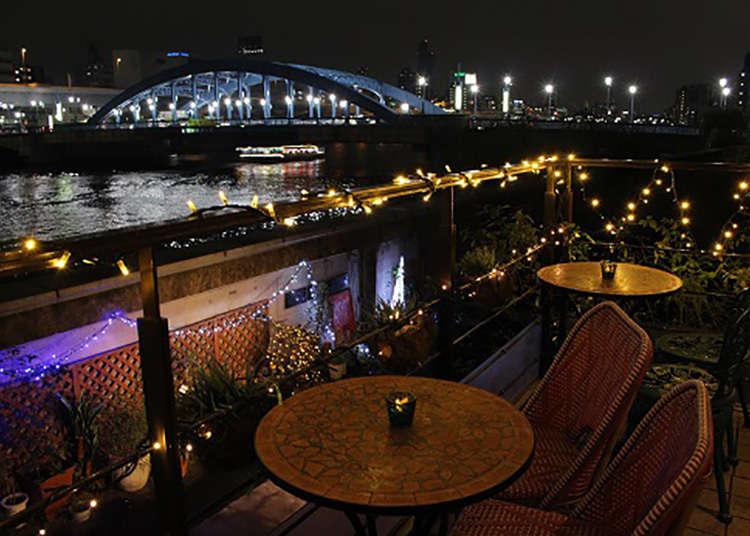 Menikmati pemandangan Sungai Sumida dari