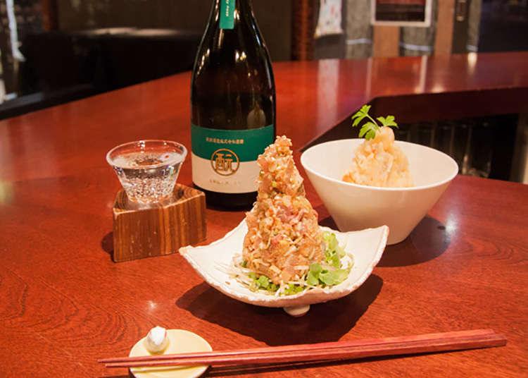 서서 즐기는 일본 술 스탠드 '모토'