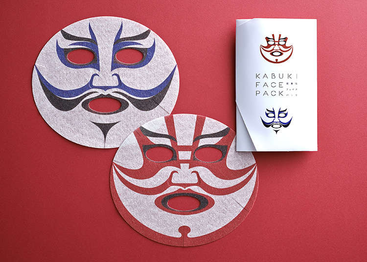 Masker Wajah Kertas Berbentuk Kabuki Face