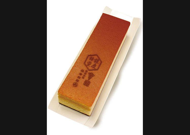 Castella (sejenis kek Jepun yang berbentuk segi empat panjang) yang menggunakan madu dari Ginza