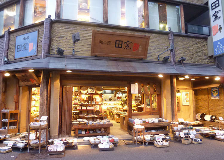 Tableware from all over Japan at a reasonable price!