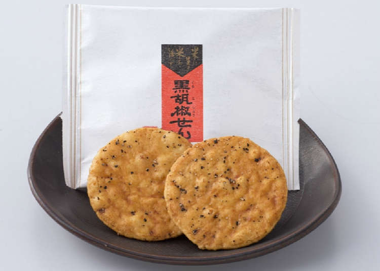 Osenbei (rice cracker) shop with special recipes