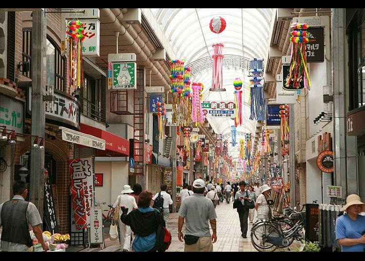 Musashi-Koyama shopping street with some unique and popular shops!