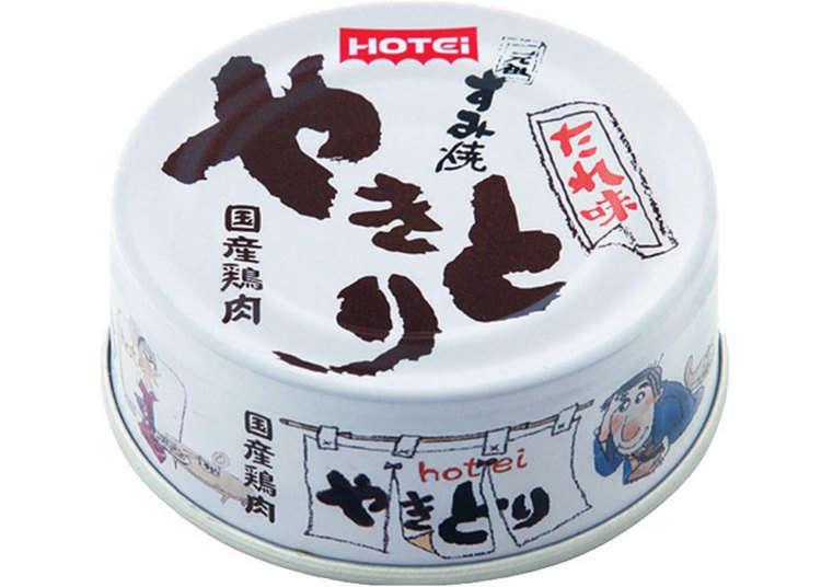 Ayam panggang dalam tin yang sangat sesuai sebagai snek bersama sake (arak)