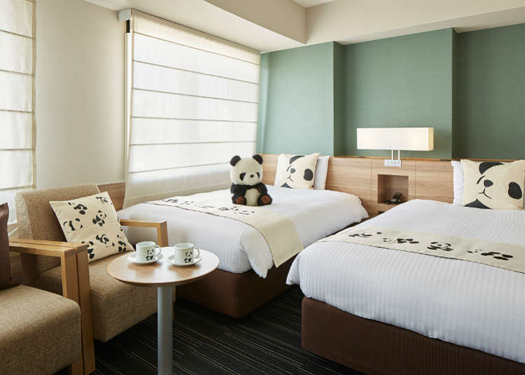 Ruang Relaksasi Dikelilingi Panda