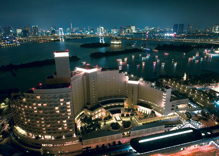 Command a panoramic view of Tokyo Bay