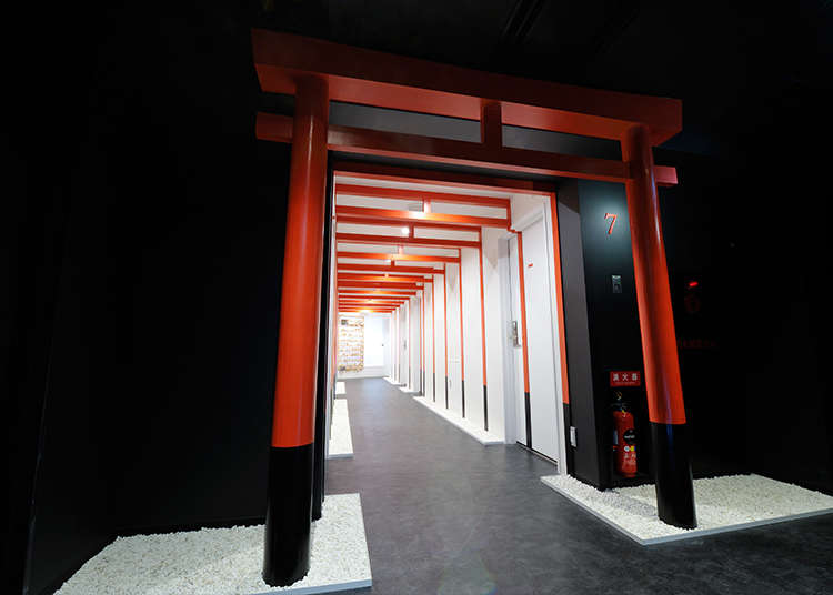 Each floor symbolizing many elements of Japanese culture