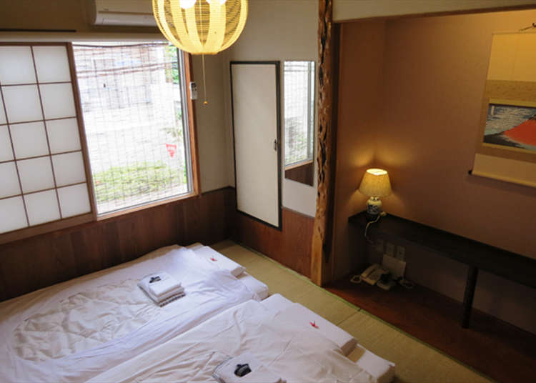 Essential for Japanese sprit! All the guest rooms are floored with tatami mats