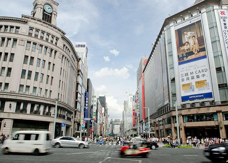 10:00 pagi. Bergerak ke Ginza