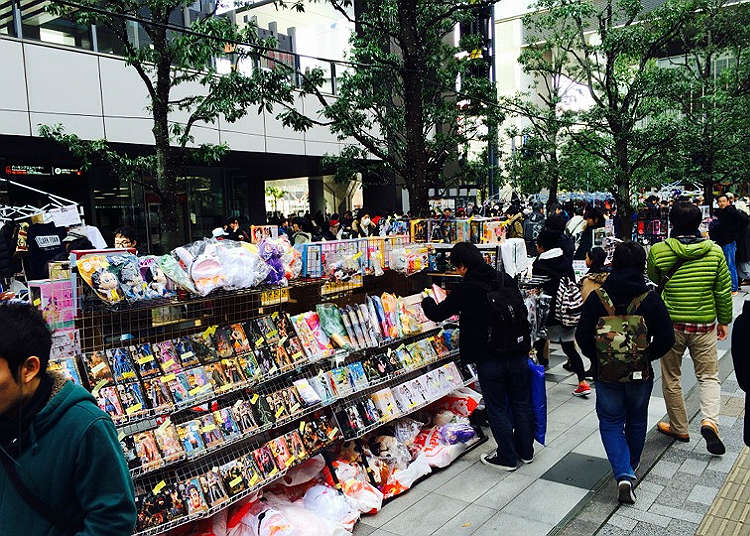 Electric appliances and anime goods can be found!