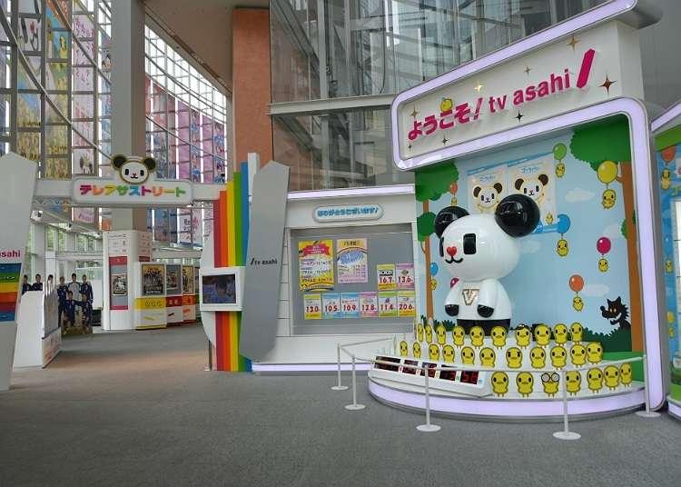Take souvenir photos in TV studios!
