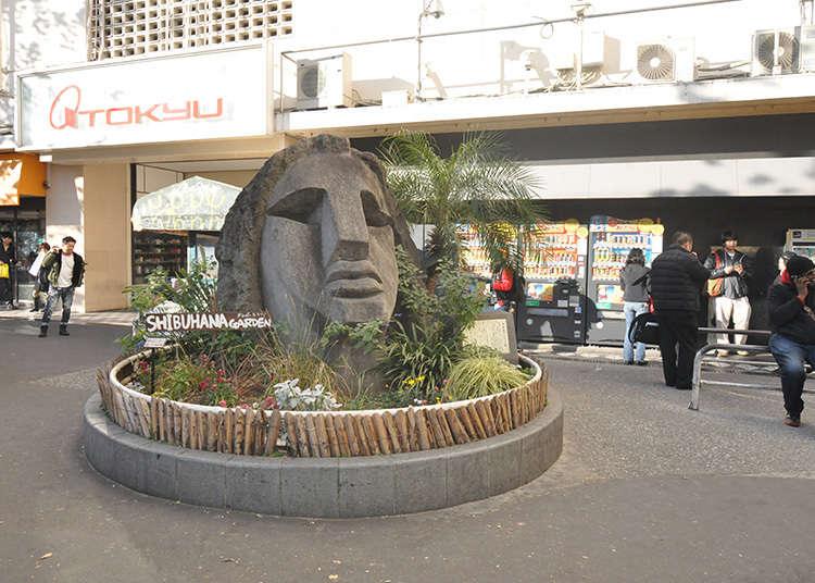 知名的碰面地點「復活節島石像」