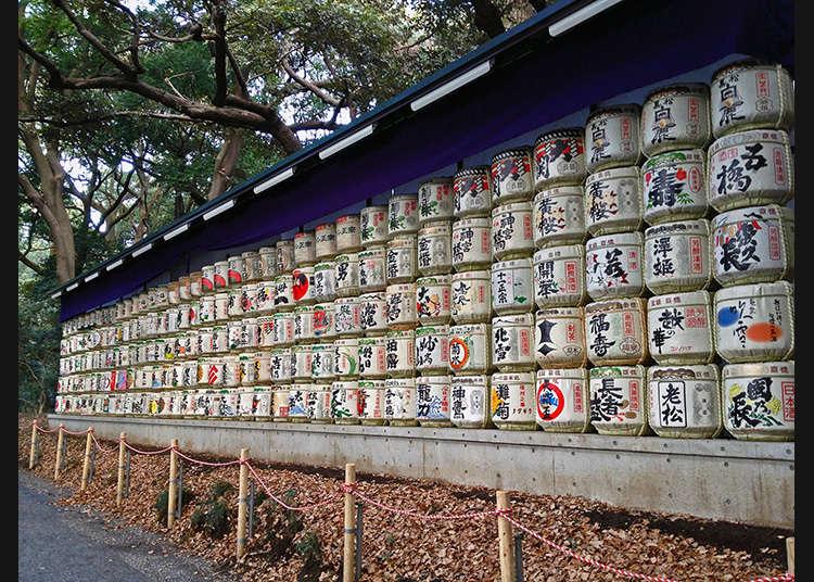 Sake (arak beras Jepun) untuk persembahan kepada tuhan