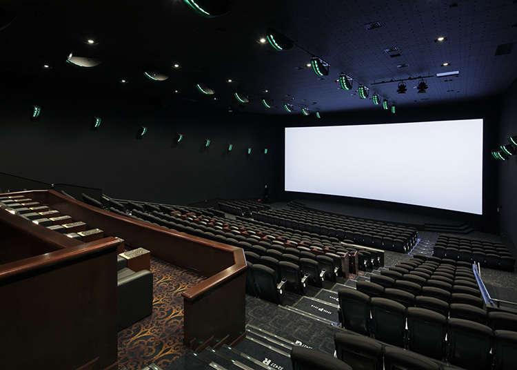 在复合式电影院里享受电影
