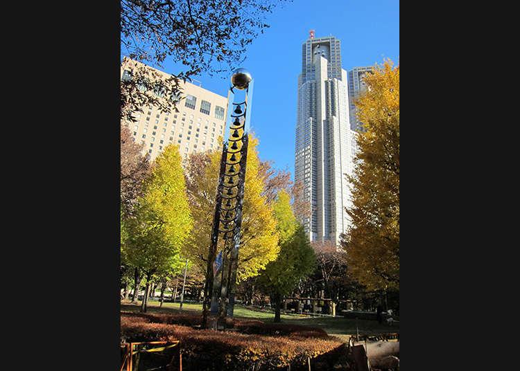 在新宿中央公園悠閒度過