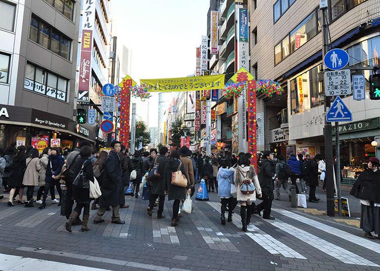 The street that goes through Ikebukuro's downtown