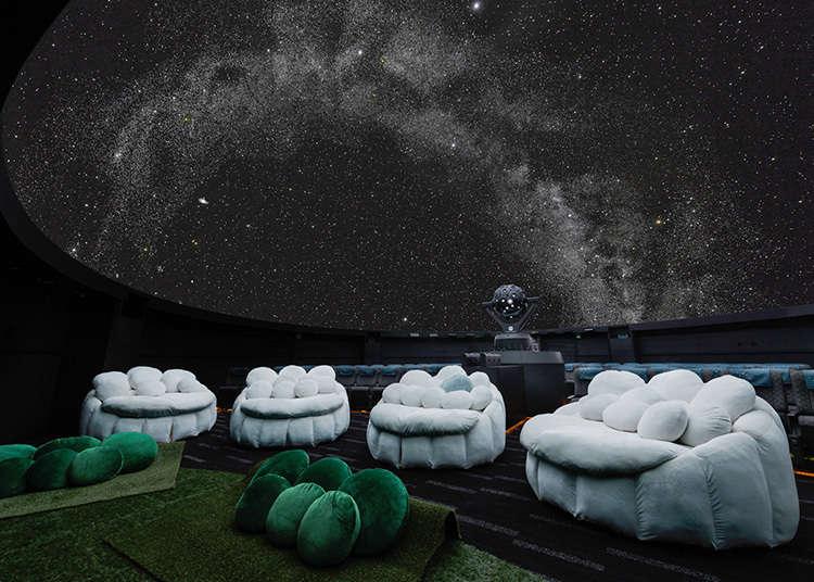 星空の下でロマンチックな時間を過ごす