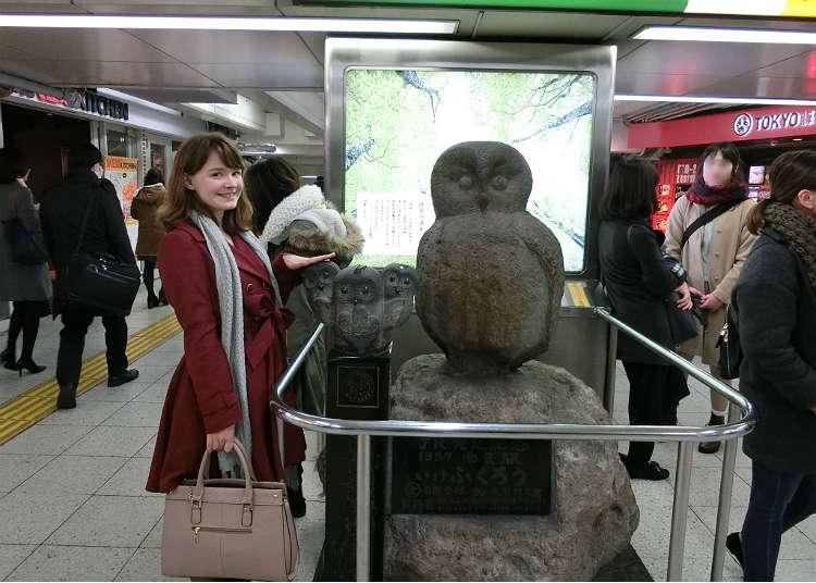อิเคะฟุคุโร่ (นกฮูกอิเคะ) สถานที่ที่มีรูปปั้นนกเพนกวิน