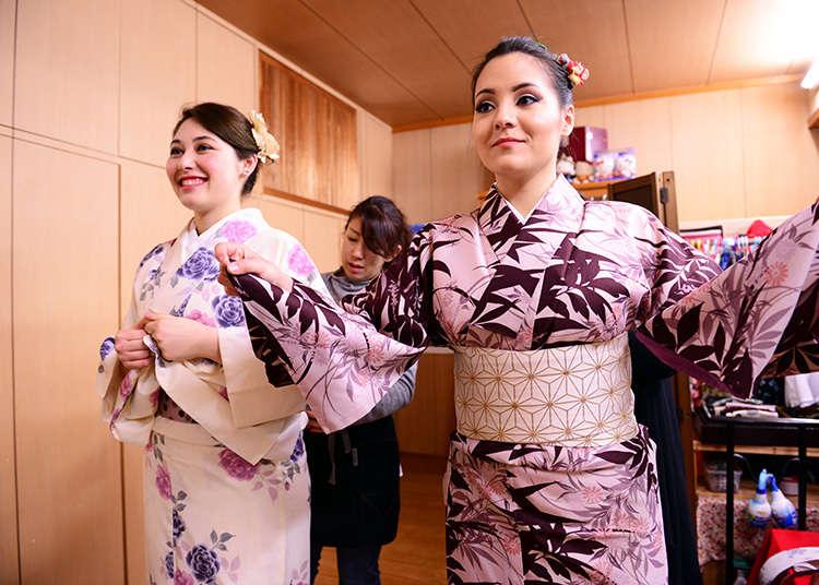 기모노를 빌려 입고 일본의 정서를 체험해보자!