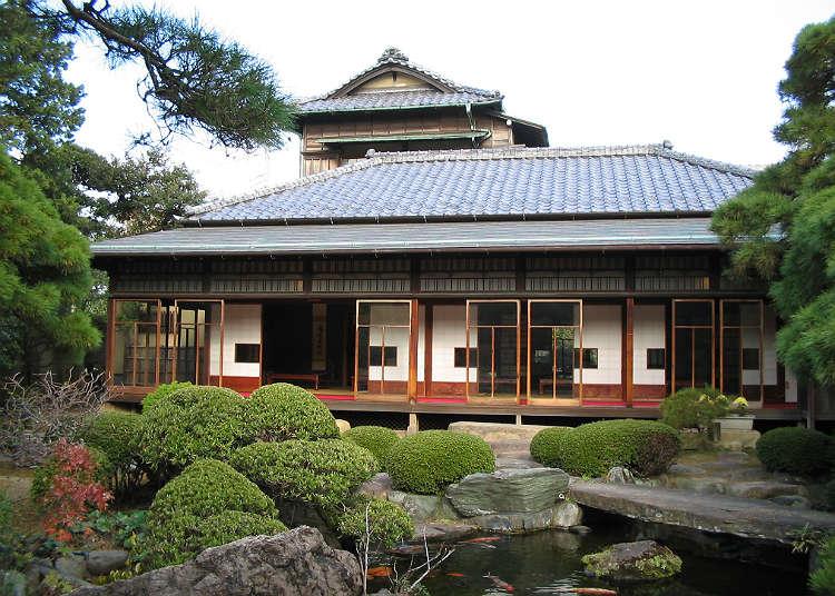 일본과 서양이 조화된 건물인 '야마모토테이'에 가보자.