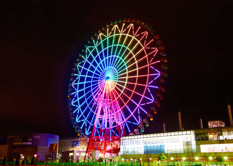 2. Ride the Palette Town Ferris Wheel!