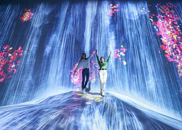 "1. Enjoy a Borderless World of Art from ""teamLab Borderless"" in Odaiba!"