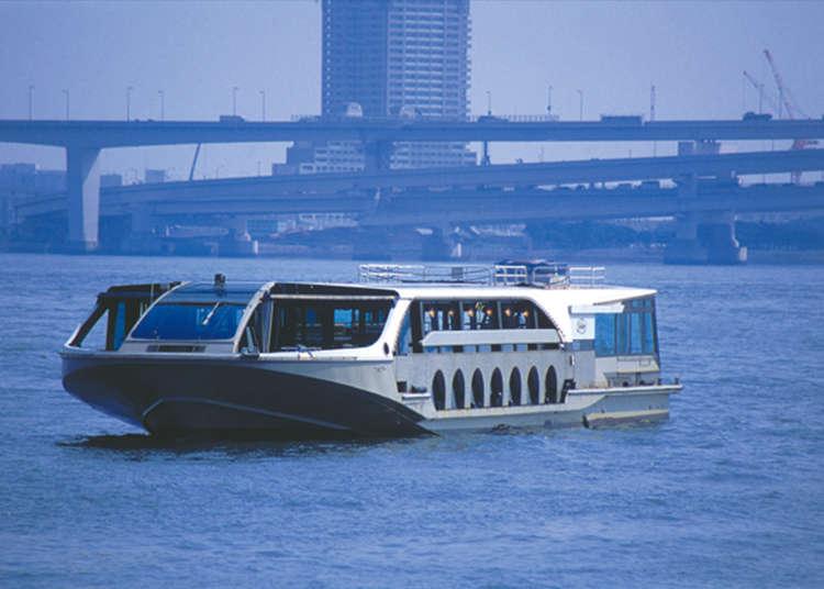 """乘坐""""海上巴士""""欣赏台场景色"""