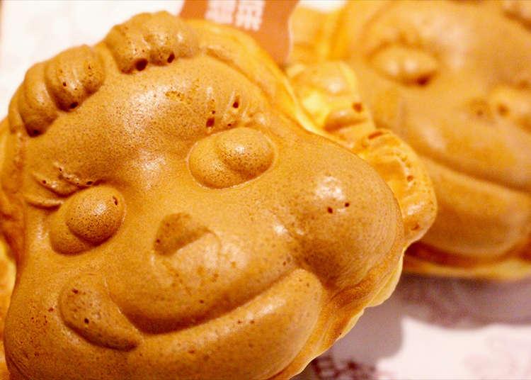 日本ではここだけ!「ペコちゃん焼」