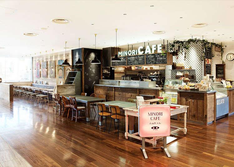 Minori cafe where you can taste Japanese seasonal flavors