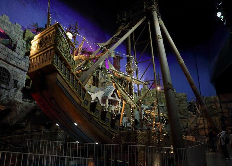거대한 해적선에서 무중력 세계를 체험!